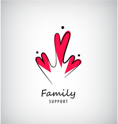 family 3 care logo template people with vector image