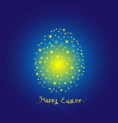 Fancy Egg Easter on blue background vector