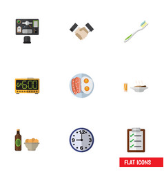 Flat icon lifestyle set of watch partnership vector