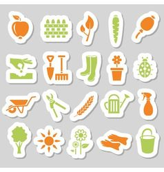 Garden stickers vector
