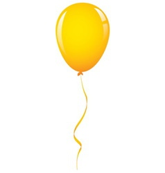 Gold balloon ribbon vector