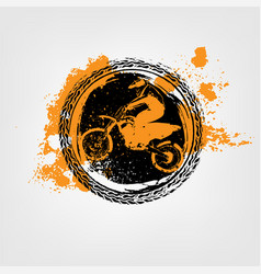 Grunge motorcross element vector