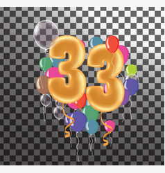 Happy birthday thirty three year fun celebration vector