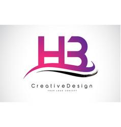 Hb h b letter logo design creative icon modern vector
