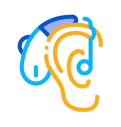 Hearing aid icon outline vector