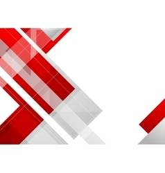 Hi-tech red corporate abstract background vector