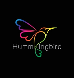 Image of an hummingbird design vector