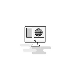 internet browsing web icon flat line filled gray vector image