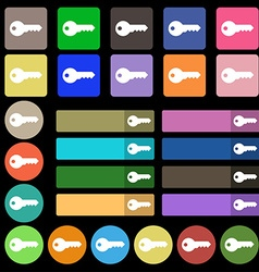 key icon sign Set from twenty seven multicolored vector image