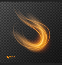 light effect line gold circle glowing vector image