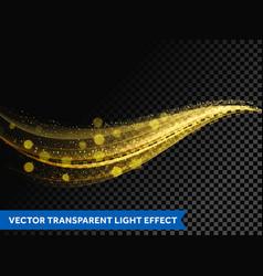 light line gold effect light glitter wave line vector image