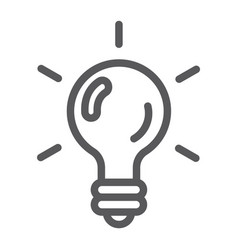 Logic game line icon game and play light bulb vector