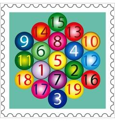 Magic Hexagon Stamp vector