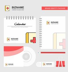 medical book logo calendar template cd cover vector image