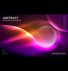 Modern abstract aurora energy with colorful vector