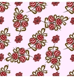 Natural red berries seamless pattern background vector