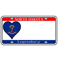 north dakota license plate vector image
