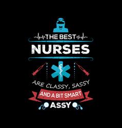 nurse t shirt design vintage emblems vector image