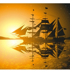 Old Ship Sailing the Seas vector
