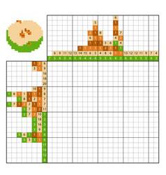 paint number puzzle nonogram apple vector image