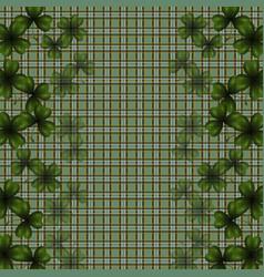 Patrick s day image translucent leaf clover on vector