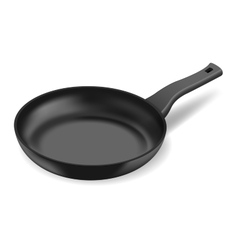 Photorealistic black frying pan vector image