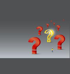 problem solving concept design vector image