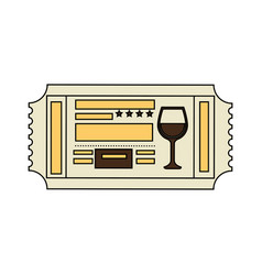 Restaurant ticket icon vector