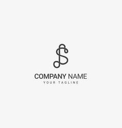 s line art logo vector image