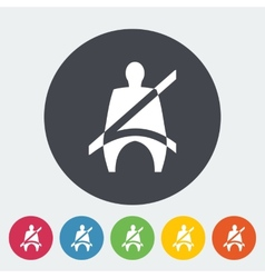 Seat belt vector image