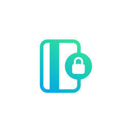 Secure payment with card icon isolated on white vector