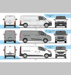 Set cargo vans l2h1 vector