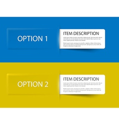 Set of Colorful Sample option cards vector image