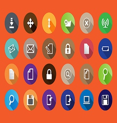 set of computer icons in a flat design vector image