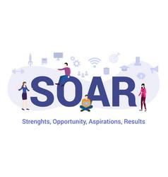 Soar strengths opportunity aspirations result vector