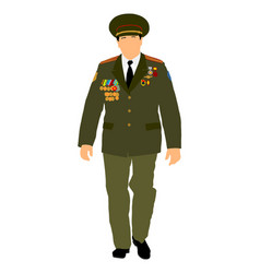 Soviet army officer in uniform russian general vector