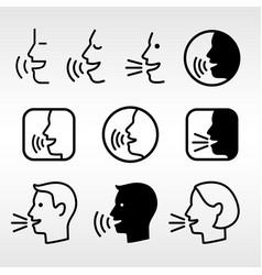 Speak head technology signs vector
