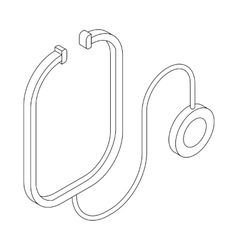 Stethoscope icon isometric 3d style vector image
