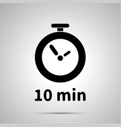 Ten minutes timer simple black icon vector