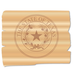 Texan state seal brand vector