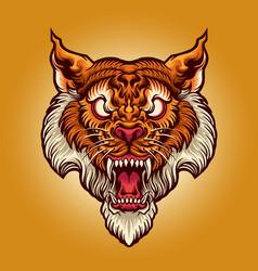 tiger head art style tattoo vector image