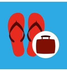 Travel concept flip flops beach vector