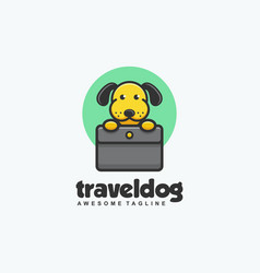 travel dog concept template vector image