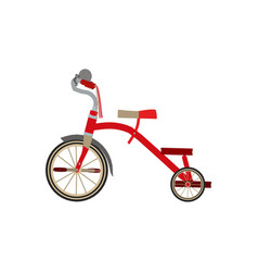 tricycle bike bicycle icon isolated toy red ride vector image