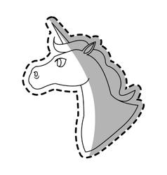 Unicorn cartoon icon vector