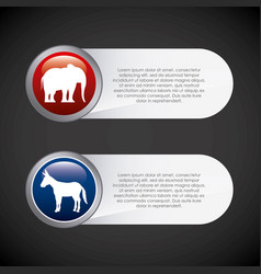 Usa political parties infograhic vector