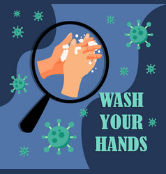 wash your hands - 001 vector image