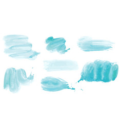 watercolor blue abstract painted ink vector image