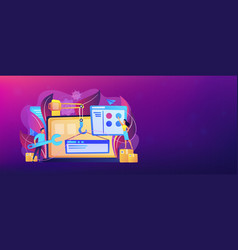 Web development header or footer banner vector