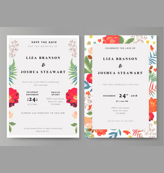 Wedding with floral background vector